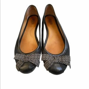 Coach Saundra Black Signature Flats